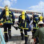 Ασκηση απο την Πυροσβεστική Υπηρεσία Καβάλας