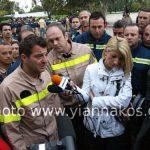 Ογκώδες το συλλαλητήριο των συμβασιούχων πυροσβεστών