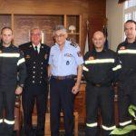 Eπίσκεψη του Α' Αντιπροέδρου του Εθνικού Συμβουλίου Εθελοντών Πυροσβεστών ΗΠΑ