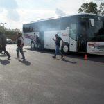 Πυρκαγιά σε τουριστικό λεωφορείο - Απεγκλωβισμός των επιβατών