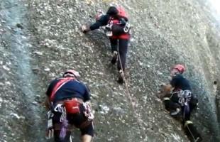Εντυπωσιακή διάσωση ορειβάτη στα Μετέωρα από την Π.Υ Καλαμπάκας