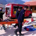 Άσκηση με διάσωση αναρριχητή από την Πυροσβεστική Υπηρεσία Καλαμπάκας