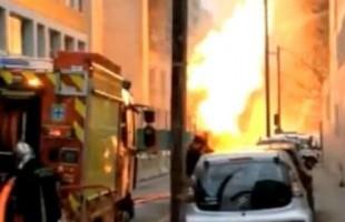 Θεαματική φωτιά εξ αιτίας διαρροής υγραερίου