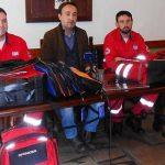 Πλατανιάς: Έδωσε εξοπλισμό στους Εθελοντές Σαμαρείτες