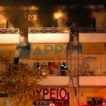 Διώροφη κατοικία τυλίχθηκε στις φλόγες στο κέντρο της Καλαμάτας