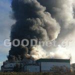 Καίγεται η Creta Farm μεγάλη δύναμη της Πυροσβεστικής επιτόπου