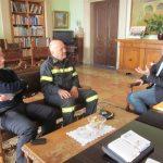 Επίσκεψη σε περιφερειάρχη και δήμαρχο του νέου διοικητή της Πυροσβεστικής Ρόδου