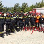Μεγάλη άσκηση των δυνάμεων της Π.Υ. σε περίπτωση πυρκαγιάς στη Ρόδο