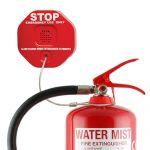Σύστημα προστασίας πυροσβεστήρα από κλοπή ή βανδαλισμό