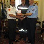 Συνάντηση του Συντονιστή Επιχειρήσεων Θεσ/νικης με Ολλανδό Αξιωματικό της Πυροσβεστικής.