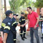 Επίσκεψη Υπουργού Δημόσιας Τάξης και Προστασίας του Πολίτη στο Εθ. Πυροσβεστικό Κλιμάκιο Πεντέλης