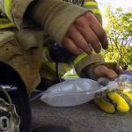 Πυροσβέστης σώζει γατάκι GoPRo Camera