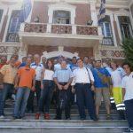 Με εθελοντές πυροσβέστες συναντήθηκε η Πατουλίδου