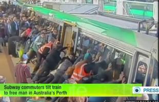 Επιβάτες του Μετρό στην Αυστραλία διασώζουν άνθρωπο που κόλλησε στην αποβάθρα