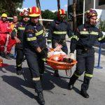 """Εντυπωσιακές εικόνες από το τσουνάμι που """"χτύπησε"""" ξενοδοχείο στο Ηρακλειο στο πλαίσιο...άσκησης"""