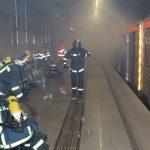 Άσκηση κατάσβεσης πυρκαγιάς σε συρμό του Μετρό «ΑΓΙΑ ΜΑΡΙΝΑ 2014»