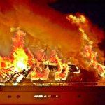 Πυρκαγιά σε πολυτελή θαλαμηγό στην Μαρίνα Άγιου Νικόλαου Κρήτης