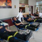 Οι πυροσβέστες έδωσαν αίμα