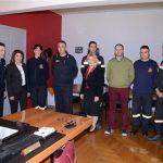 Η Δήμητρα Γεωργακοπούλου-Μπάστα σε Πυροσβεστική και ΕΜΑΚ