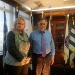 Συνάντηση εργασίας της Τομεάρχου Πρ. του Πολίτη των Ανεξάρτητων Ελλήνων, & του ΥΠτΠ, κ. Γιάννη Πανούση