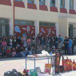 ΠΥΡΟΣΒΕΣΤΙΚΗ: μάθημα αντιμετώπισης ατυχημάτων απο φωτιά στο Γυμνάσιο Κεραμειών