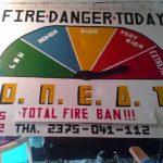 Πινακίδα ενημέρωσης Επικινδυνότητας Δασικών πυρκαγιών