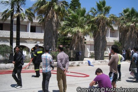 Φωτιά σε ξενοδοχείο όπου μένουν μετανάστες στην Κω
