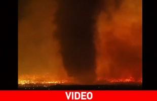 Ανεμοστρόβιλος από φωτιά στις ΗΠΑ