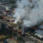 Διαμέρισμα στη Λεμεσό παραδόθηκε στις φλόγες (εναέριο βίντεο από Drone)