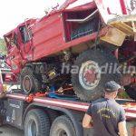 Ανέσυραν πυροσβεστικό όχημα από χαράδρα στο Άγιο Όρος