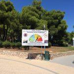 Πινακίδα επικινδυνότηταςδασικών πυρκαγιών & στην κοινότητα Θρακομακεδόνων