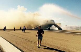 Αεροσκάφος της British Airways τυλίχθηκε στις φλόγες στο αεροδρόμιο του Λας Βέγκας