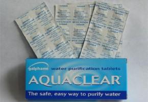 Χάπια Χαλαζόνης για καθαρισμό νερού, χρήσιμα για δασοπυροσβέστες