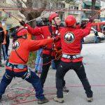 Άσκηση διάσωσης από απόκρημνο βράχο 30 μέτρων πραγματοποίησε η ΕΜΕΔ