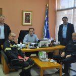 Σύσκεψη Δημάρχου Φαρσάλων και Διοικητού Πυροσβεστικής Υπηρεσίας Λάρισας
