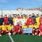 Η ομάδα ποδοσφαίρου Πυροσβεστών Θεσσαλονίκης στη Βαρκελώνη
