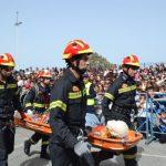 Übung der Feuerwehr in Schule von Kyparissia