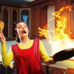 Παρουσίαση τρόπων ασφαλούς κατάσβεσης πυρκαγιάς σε μαγειρικά σκεύη