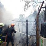 Πυρκαγιά σε αποθήκη στα Συχαινά