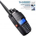 Φορητός πομποδέκτης VHF/UHF 10 Watt με 2 κεραίες