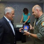 Deputy Minister awards the crew of the firefighting airplane