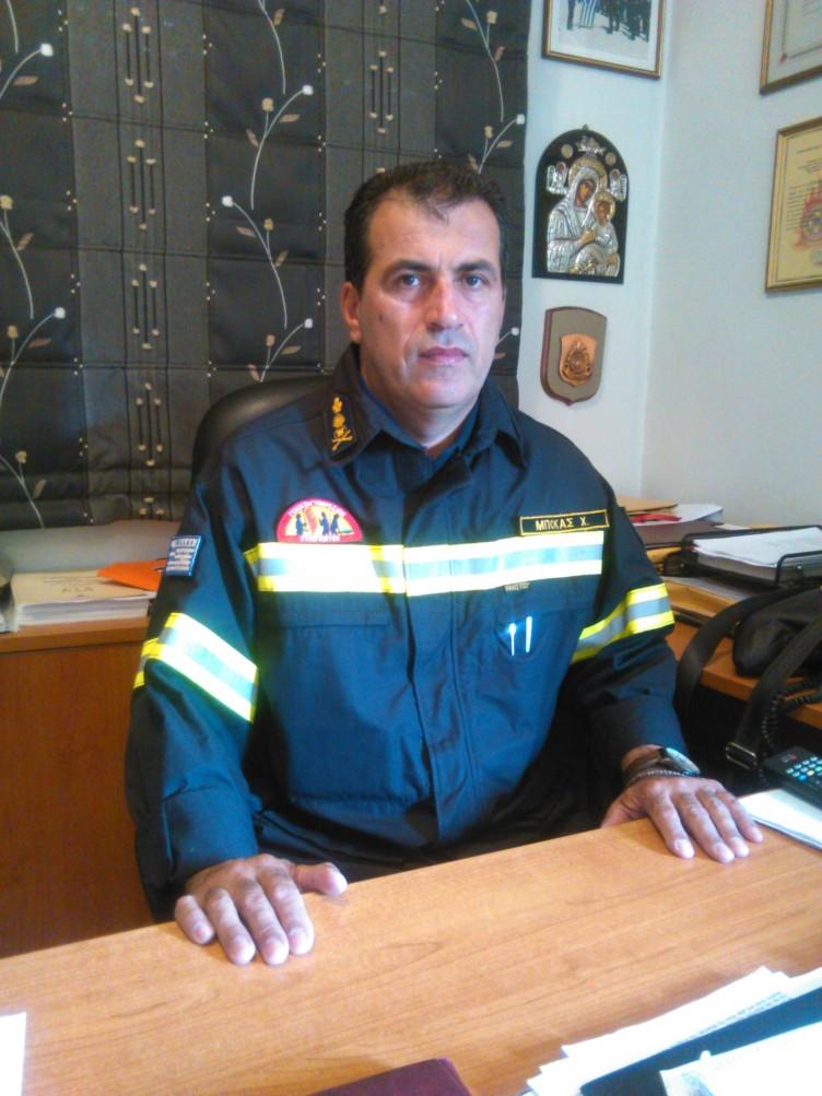 Χριστόφορος Μπόκας Διοικητής Πυροσβεστικής Υπηρεσίας Αγρινίου