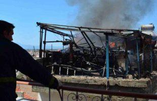 Πυρκαγιά κατέστρεψε σπίτι κάτω από το κάστρο στο Παλαμήδι