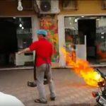Φιάλη υγραερίου παίρνει φωτιά σε εστιατόριο