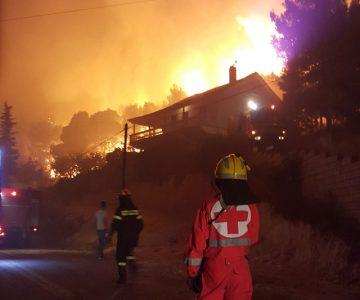 Συμμετοχή στις επιχειρήσεις κατάσβεσης δασικής πυρκαγιάς στη Ζάκυνθο